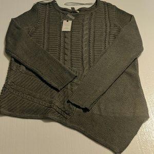 Dana Buchman sweater gray XL